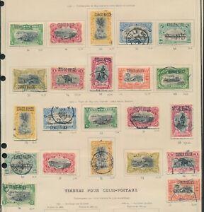 BELGIAN CONGO STAMPS 1908-1909 EXCELLENT HANDSTAMPED & MACHINE SURCHARGES