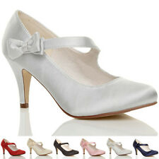 Bridal or Wedding Mary Janes Textile Shoes for Women