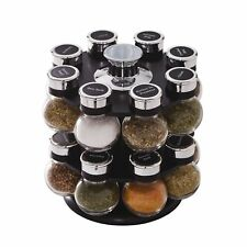 Kamenstein Ellington 16-Jar Revolving Spice Rack with Spice Refills for 5 Years
