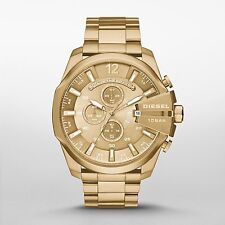 Diesel Mega Chief Champagne Gold-tone Mens Chronograph Watch DZ4360