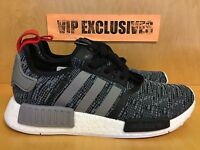 Adidas NMD R1 Core Black Grey Red Glitch Camo Pack Originals Nomad Runner BB2884