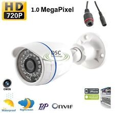 HD Weatherproof Outdoor Bullet Onvif IP Network Security Camera 1.0MP 720P 36IR