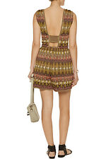 NEW MISSONI METALLIC KNIT OPEN BACK CUTOUT JUMPSUIT ROMPER PLAYSUIT 42 6