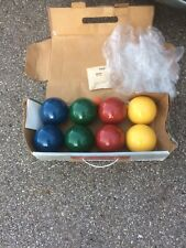 Forster Vintage Bocce Lawn bowling complete Competitors Set 6200 instructions