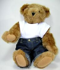 Vermont Teddy Bear Company 1950s Blue Jeans White TShirt Heart Tattoo Grease