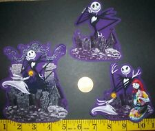 New! Cool! Disney's The Nightmare Before Christmas IRON-ONS FABRIC APPLIQUES
