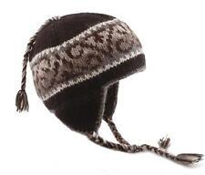 Kusan - Tibetan style Earflap ski/ Snowboard Beanie hat 100% wool from nepal