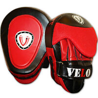 VELO Curved Focus Pads Hook and Jab Mitt Punch Bag Kick Boxing Muay Thai MMA RB
