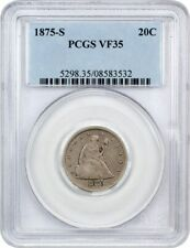 1875-S 20c PCGS VF35 - Popular Type Coin - 20-Cent Piece - Popular Type Coin