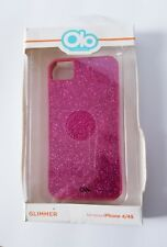 Case for iPhone 4 4S cover Hot Pink Glitter Coated Glam