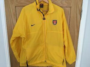 Nike Arsenal training yellow lightweight jacket, vgc, size XL