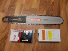 "Oregon 16"" chainsaw guide bar 168VXLGK095 & 2 chains .325 pitch .058 gauge 66 DL"