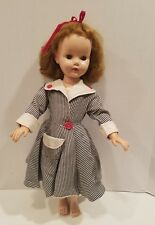 "1955 American Character - 21"" Sweet Sue Walker Doll in Black White Checked Dress"