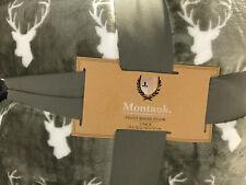 """2 Gray White Velvet Berber Pillows By Montauk 18"""" X 18"""" Deer Motif New"""