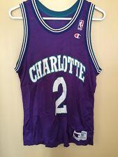 Vintage Champion Nba Basketball Jersey Larry Johnson Size 40 Charlotte Hornets