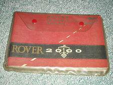 Rover 2000 handbook set