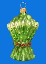 ASPARAGUS EUROPEAN BLOWN GLASS CHRISTMAS TREE ORNAMENT FOOD SPARGEL