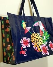 New VERA Bradley in TOUCAN PARTY MARKET XL Tote RECYCLABLE shopping, Gift bag
