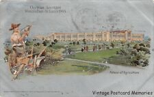 ST LOUIS MO 1904 Official Souvenir Showing Palace of Agriculture  World's Fair