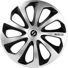"""Sparco SPC1373SVBK Set 4 copricerchi coppe auto Sicilia silver/nero 13"""""""