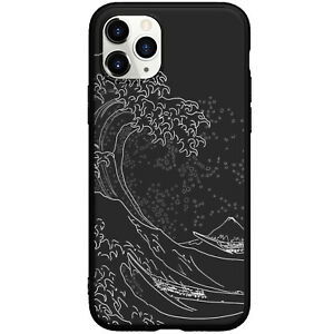 The Wave Line Wallpaper Black Phone Case For iphone 11 12 13 Pro Max XR 7 8 Plus