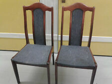 2 dining chairs,mahogany,solid wood,1 chair leg broken,suitable for drama play