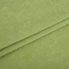 Mikrofaser Meterware 1lfm 1,48m breit Polsterstoff Velours weich Grün