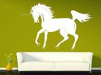 Wall Sticker Vinyl Decal Unicorn Beautiful Horse Mane Powerful Tail Hooves(n145)