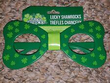 Lucky Shamrocks Green Novelty Eyeglasses bowtie shaped