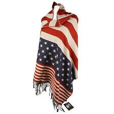 American Flag Blanket Wrap Shawl D&Y Scarf Americana 70x28