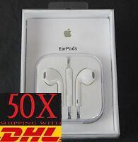 50x Original Genuine APPLE iPhone 6/6Plus/5S/5c/5 Earpod Earphone with Packing