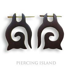 Ohrringe Handarbeit aus Holz Maori Design Schmuck ER122
