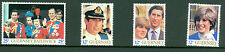 Guernsey 223-226 Royal wedding Guernsey Post Office folder with 4 Mnh singles