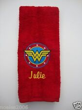 Personalized Embroidered Hand Towel Wonder Woman Justice League DC Comics