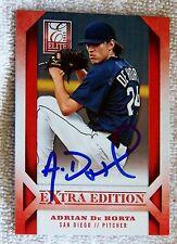 San Diego Padres Adrian De Horta Signed 2013 Donruss Elite Card Auto
