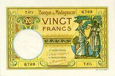 Madagascar P-37 20 francs UNC