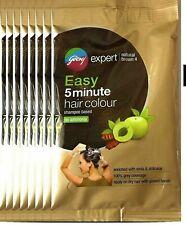 Godrej Expert Easy 5min Shampoo Hair Color,4-Natural Brown, Pack of 4