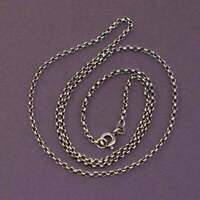 """20"""", 2mm, vtg Germany 333 yellow gold necklace, solid 8K gold circle link chain"""
