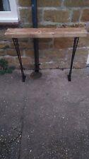 Bespoke H80 x W100 x 22cm steampunk rustic black industrial steel console table