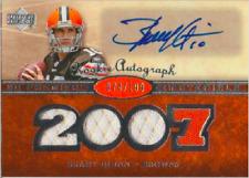 Brady Quinn 2007 UD Premier rookie RC jersey autograph auto card 136 /199