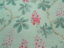 Sanderson Curtain Fabric CHESTNUT TREE 3.5m Seaspray/Peony Floral Design 350cm