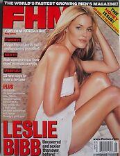 LESLIE BIBB  May 2001 FHM Magazine #11 MARK CUBAN  MONEY-HONEYS