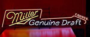 "New Miller Genuine Draft Guitar Light Bar Neon Sign 32""x24"""