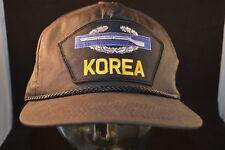 Vintage Korea Combat Infantry Badge Military Truckers Hat  New Old Stock