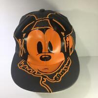 Disney Parks Mickey Mouse Big Logo Flat Brim Snapback Cap Hat OSFA