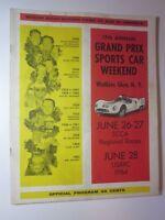 1964 Grand Prix Sports Car Watkins Glen N.Y. June 26-27,28 Official Program