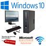 "HP 800G1 4TH GEN PC SFF  16GB 240SSD DESKTOP TOWER COMPUTER  WIN 10/22"" LCD"