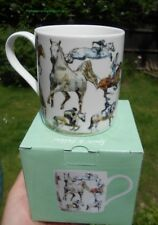 Choice of 11 Horsey Racing Equestrian Themed China Drinking Mugs Boxed Sports Horse Sketches Julia Hook