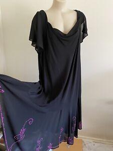 Autograth Dress Size 24 Black Embroidery New