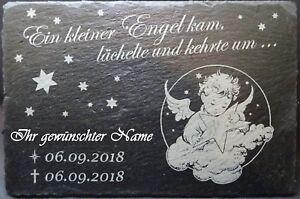 Schiefer-Gedenktafel für Sternenkinder, mit individueller Gravur (20 x 30cm)